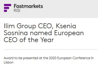 Fastmarkets RISI European CEO of the Year
